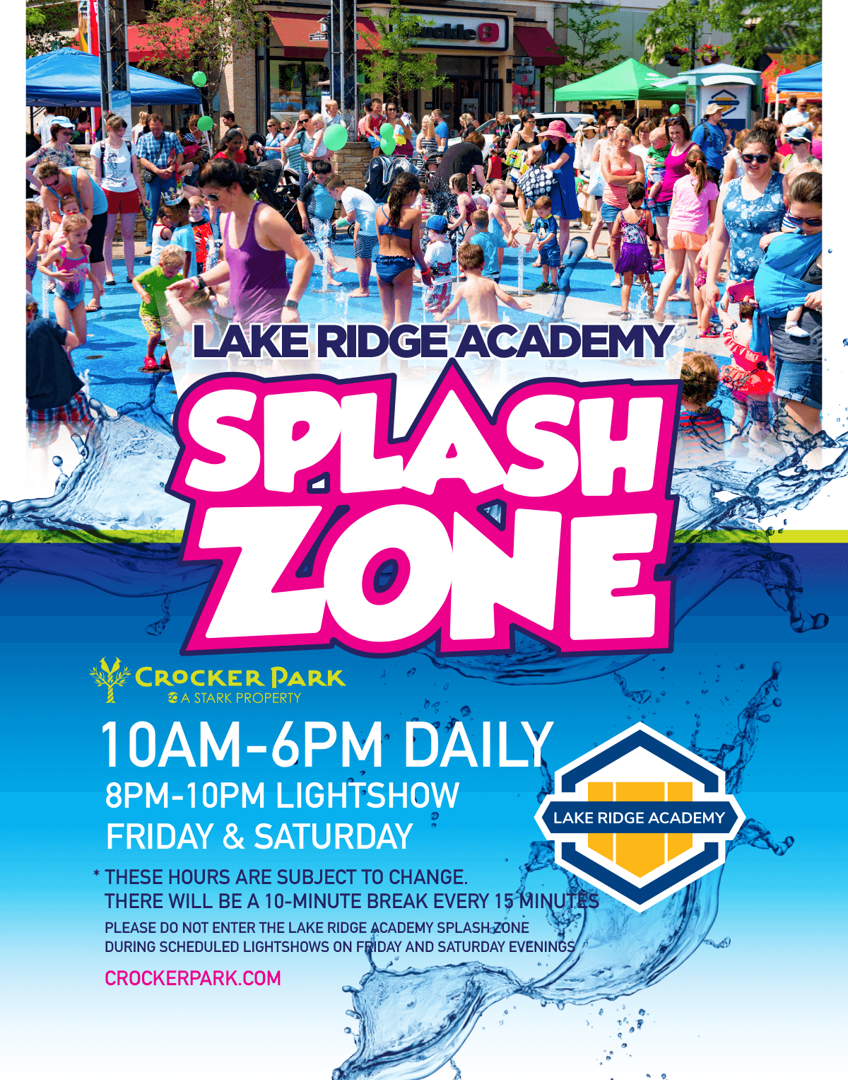 Lake Ridge Academy Splash Zone